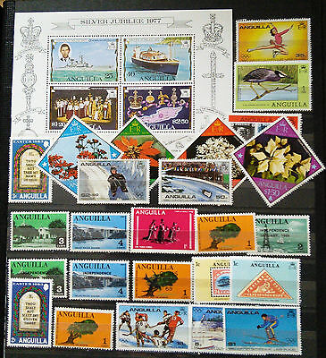 Anguilla Stamps And Mini Sheet - Nice Collection, See Scan