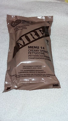 Mre U.s Ration Pack Menu 14-Vegetarian Military,camping, Hiking,fishing,survival
