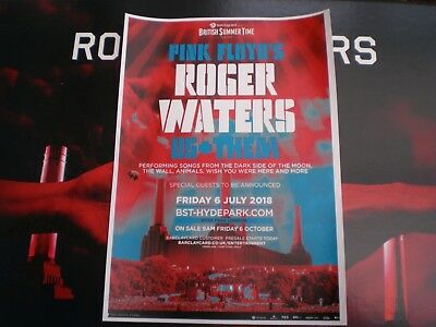 Roger Waters ~ Us and Them ~ 6th July 2018 Hyde Park U.K. ~ A4 Poster / Handbill