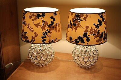 Laura Ashley Lampshades X2 (Shades Only Not Bases) In Very Good Condition Shades