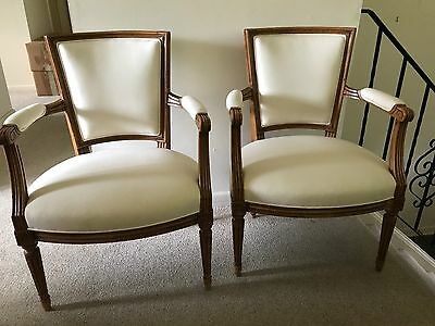 A Pair of French Arm Chairs Louis XVI Style 19th Century NEW PRICE!!!!!!!!!!