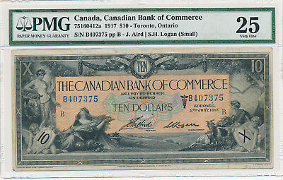 Canadian Bank of Commerce 10 Dollars 1917 - PMG 25 Very Fine