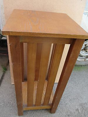 Old Used Wooden Side Lamp Hall Telephone Table Retro Classic future antique
