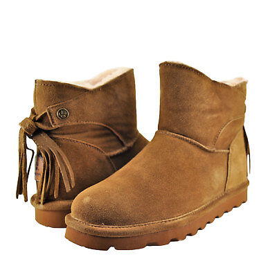 FINAL CLEARANCE  Bearpaw  NATALIA HICKORY NEVERWET  Suede  Ankle Boot  9 /&11