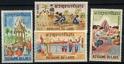 Laos 1966 SG#186-189 Laotian Ceremonies MNH Set #D58575