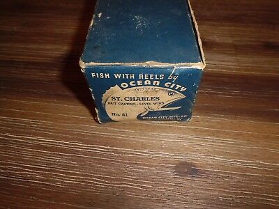 Box fo Vintage Ocean City St. Charles 81 Baitcasting Reel made in USA