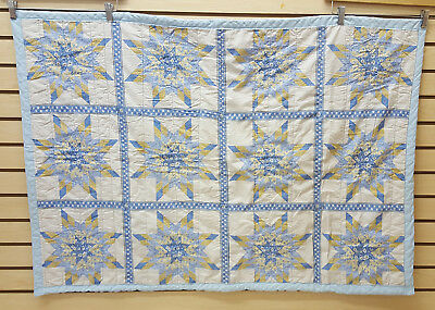 Nice Great Cond. Homemade Native American Indian Baby Star Design Quilt Blanket