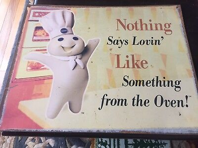 Pillsbury Doughboy Metal Sign   Nothing Says Lovin' Like Something from the Oven