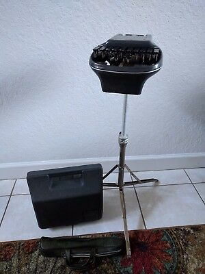 Vintage Adjustable STENOGRAPH Court House Shorthand Machine w/ Case REPORTER