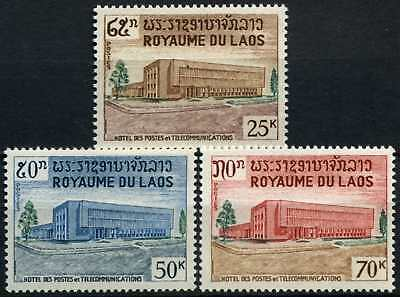 Laos 1967 SG#208-210 Opening Of New GPO Building MNH Set #D58583