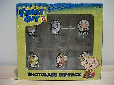 Family Guy Shotglass Six Pack