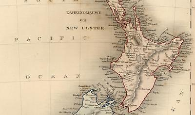 New Zealand Tavia Poenammoo New Munster Auckland Wellington c1845 rare Dower map