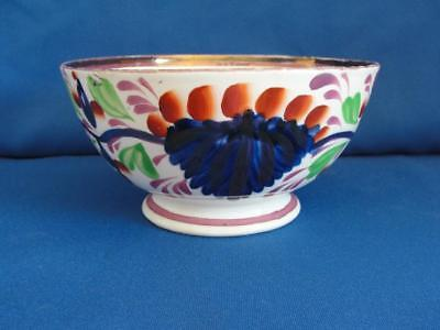 Antique Gaudy Welsh aka Gaudy Dutch Grape Pattern Bowl