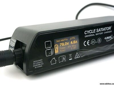 Grin Cycle Satiator 72 volt battery charger.  (20-103 volt PC programmable)