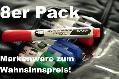 Whiteboard Marker Whiteboardmarker 8er Pack Set schwarz rot grün blau HilKeys