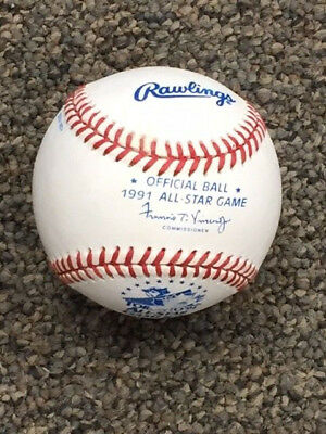 1991 All Star Game Rawlings Baseball Blank and Unsigned Fay Vincent Toronto
