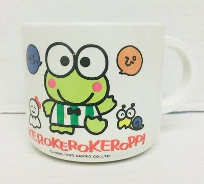 Keroppi Plastic Cup MADE IN JAPAN SANRIO from JAPAN RARE 1990 (frog mug)