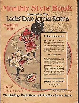 Antique 1910 Ladies' Home Journal Monthly Style Book - March 1910 - Catalog