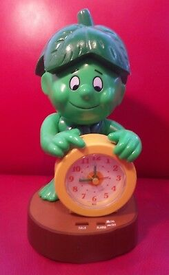 Rare Vintage Jolly Green Giant Little Sprout Talking Alarm Clock 1985 Works