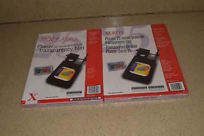 ^^ Xerox Transparency Phaser 25 Premium Film 100 Sheets Total 8.5X11-New-(P3)