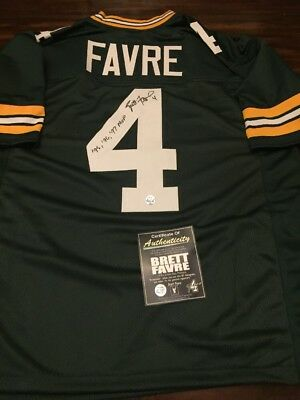 """Brett Favre Auto Autograph Signed Green Bay Packers Jersey """"favre Coa And Holo"""""""