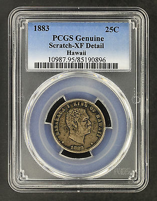 1883 Kingdom of Hawaii Silver Quarter PCGS XF Details Scratch – 163510