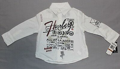 Hurley Shirt White size 12 months 0 BNWT Authentic