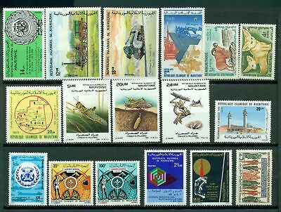 Mauritania Assort 4 MNH Insects Trains Scouts $$