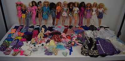 Lot Vintage Barbie & Friends Dolls 1990's Fashion Avenue Clothes & Accessories
