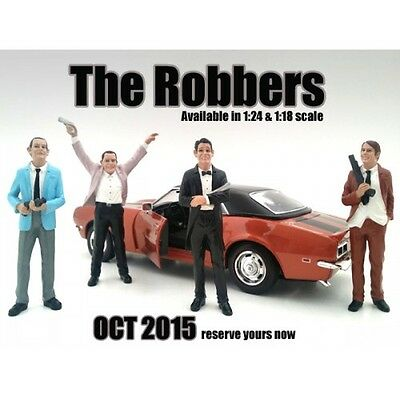 THE ROBBERS - Complete Set of 4- 1/24-G Scale figure/figurine-American Diorama