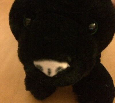 FAO Schwartz Black Puppy Dog Plush 9""