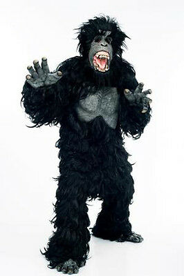 Adult Hairy Screaming Gorilla Suit Costume-Halloween  sc 1 st  PicClick & ADULT HAIRY GORILLA Suit Fancy Dress King Kong Big Monkey Scary Stag ...