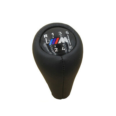For BMW 3 5 7 series M E36 E46 E34 Real leather 6 Speed Gear Shift Knob Handle