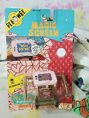 Vintage 1988 Matchbox Pee-Wee Playhouse Magic Screen Action Figure MOC