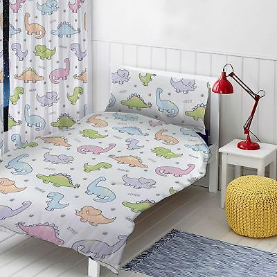 """Dinosaurs Readymade Curtains Childrens Bedroom 54"""" Drop"""