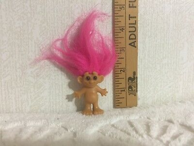 TROLL Doll w/Pink Hair has  Mello Smello  on bottom of Foot  -  RARE  -  (TR40)