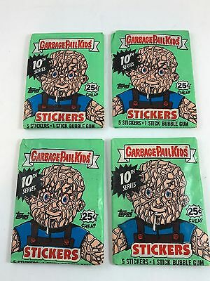 Garbage pail kids cards GPK 4 Packs Of New Old Stock Trading Cards 1987 NOS Rare