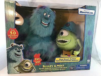 Disney Monsters Inc Scare Training Interactive Buddies Sulley & Mike Pixar Toy
