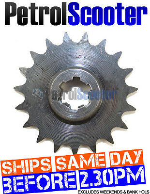 Gas Scooter Midi Moto 19 Tooth 8mm Sprocket 4 Red Grey Orange Engine See Ad