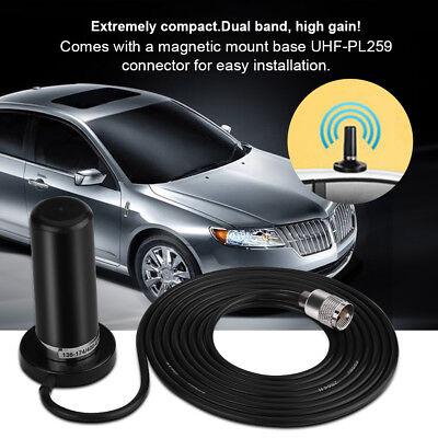 HH-N2RS UV Dual Band Vehicle Car Antenna Mobile Radio +Magnetic Mount Base Cable