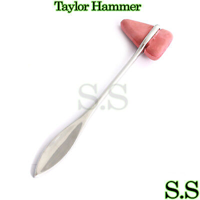 Medical Taylor Hammer Percussion Reflex Rubber Head Stainless Steel Instruments
