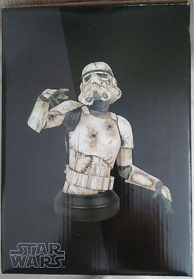 2010 Gentle Giant Star Wars DEATH TROOPER Mini Bust with Book - Limited to 2500