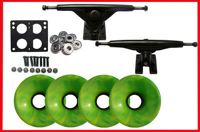 Longboard Skateboard 180 Trucks Swirl Wheels Pack