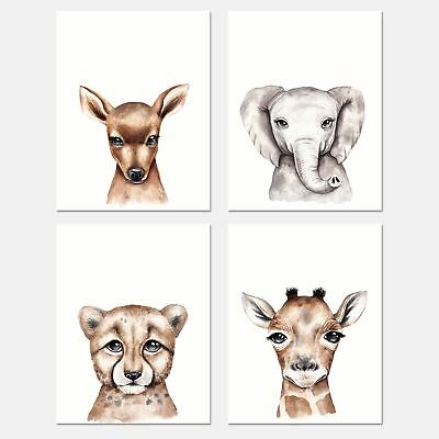 Set of 4 Wall Art Prints 8x10"