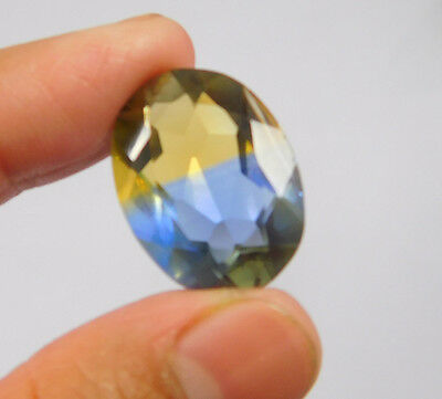 17 Cts. Treated Faceted Oval Shape Ametrine Cut Loose Cab Gemstone NG1945