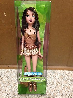 Barbie My Scene Club Disco Delancey Doll Brunette New Rare
