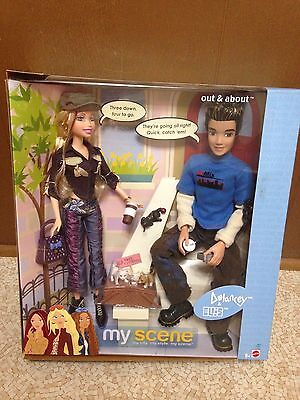 Barbie My Scene Out & About Delancey And Ellis Doll Playset New Rare