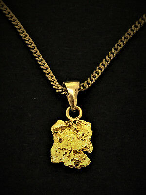 Australian Gold Nugget 1.36Gms Including 9Ct Yellow Gold Bail