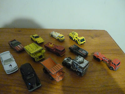 Mixed Lot Of Used Old Vintage Toy Cars Fair to Worn Condition 70's-90's