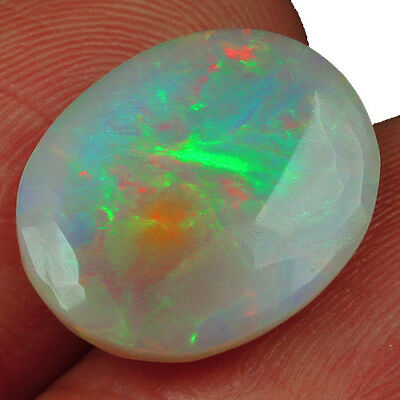 3.85CT Ethiopian Play Of Color Welo Opal Faceted Cut 100% Natural UQOL1609